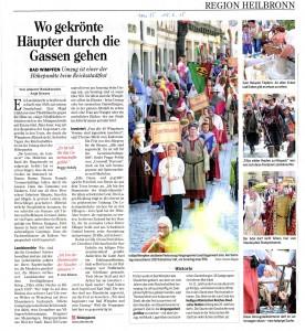 15.06.2015 Heilbronner Stimme